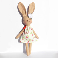 Animal kids toy Stuffed Bunny Rabbit doll Stuffed Animal Plush Bunny toy handmade Animal Baby