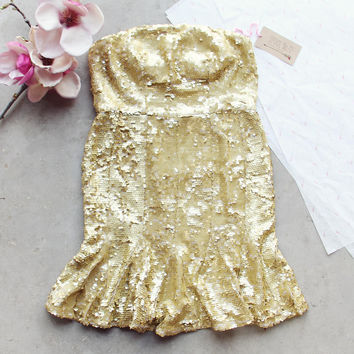 Golden Mermaid Party Dress