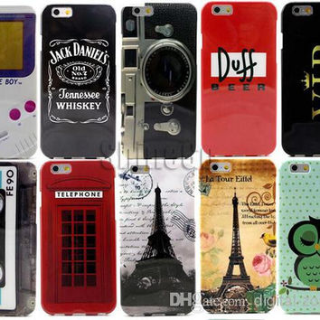 Printed TPU Soft Iphone 6 G Cell Phone Cases with Jack Daniel's USD Dollar USD flag Variety Designs