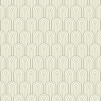 Retro Nouveau Removable Wallpaper