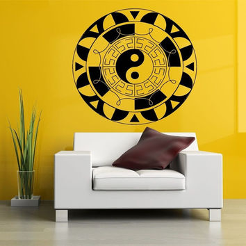 Yin & Yang Greek Key Vinyl Wall Decal