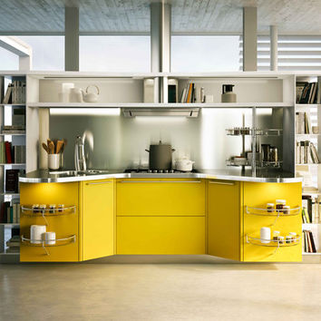 Skyline 2.0 giallo lemon - Fitted kitchens by Snaidero | Architonic