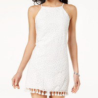 Speechless Juniors' Lace Pom Pom Dress - Juniors Extra 25% Off Summer Finds - Macy's