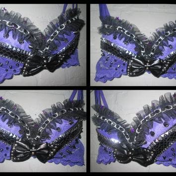 34B Rave Bra Prickly Purple