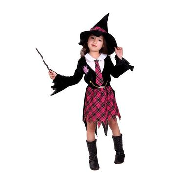M-XL Children's Halloween Witch Costume Girls Magician Cosplay Kids Student installed Role play Carnival Masquerade party dress