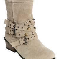 Studded Faux Suede Boot | Shop Fashletes at Wet Seal