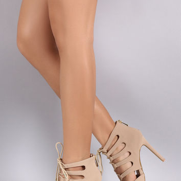 Anne Michelle Strappy Pointy Toe Pump