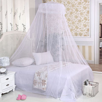 New Elegant Dome Polyester Fabric Bed Netting Canopy Mosquito Net High Quality #75279