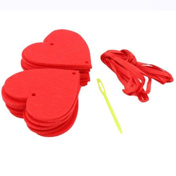 Fashion Happy Family Love Heart Curtain Garland Flags Banner Wedding Decoration Birthday Party Supplies Red Bunting