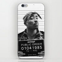 Tupac / 2pac  Public Order  iPhone & iPod Skin by Maioriz Home