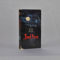 Vintage VHS Tape Bad Moon 1996 - Horror - Werewolf - Monsters - Full Moon - Crescent Moon - Photojournalist - Transfigure - Half Human