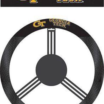 Georgia Tech Yellow Jackets Poly Suede Mesh Steering Wheel Cover University of