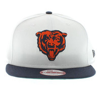 Chicago Bears White Top Snap (Green Under) Team Colors New Era 9fifty New Era Caps, Snapbacks, Bucket Hats, T-Shirts, Streetwear USA Cranium Fitteds