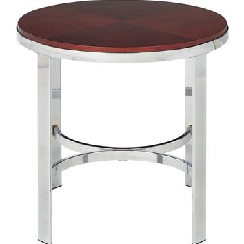 Office Star Cherry Finish Alexandria Round End Table