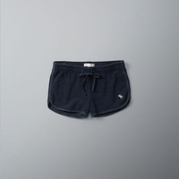 Terry Curved Hem Shorts