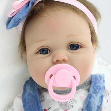 55cm Silicone Reborn Baby Doll Toys Lifelike Interactive Handmade Alive Baby Dolls Play House Girls Fashion Birthday Brinquedos