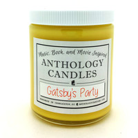 Gatsby's Party Candle - Great Gatsby Candle, Jazz Candle, Book Candle, Movie Candle, Gift for Book Lover, Gift for Movie Lover, Party Candle