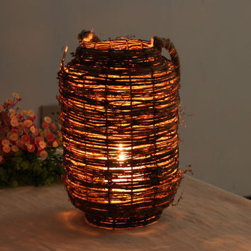 Handmade Large Vintage Lantern/Rustic home decor