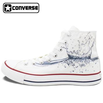 Water Drop Painted Converse