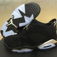 Air Jordan 6 Black and silver Basketball Shoes 41-47