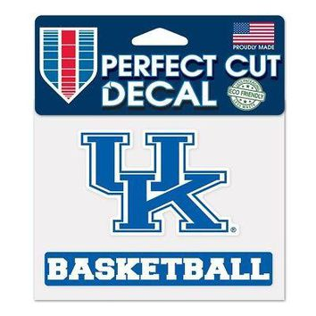 """Licensed Kentucky Wildcats Official NCAA 4"""" x 5"""" Die Cut Car Decal UK by Wincraft 361523 KO_19_1"""