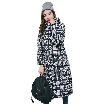 2017 Ukraine New Large Size Coat Women Cotton Long Section Korean Winter Thicker Slim Padded Jacket Warm Cute Student Outerwear