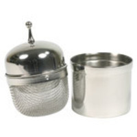 Floating Tea Infuser with Caddy 2 tablespoon capacity, Stainless Steel & [size]