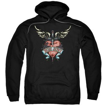 Bon Jovi - Daggered Adult Pull Over Hoodie