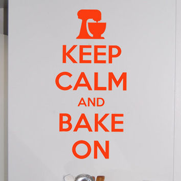 """Keep Calm and Bake On Wall Sticker 11"""" x 23"""""""