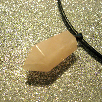 On Sale Rose Quartz  Point Bullet, Choker Necklace, Cosmos, Bohemian, Hippie, Boho, Healing stone,90s choker