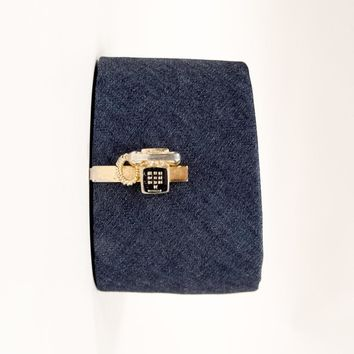 Vintage Push Button Phone Tie Clip