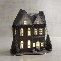 LED Light-Up Eerie Tudor House