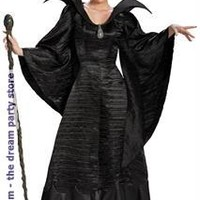 Women's Maleficent Deluxe Christening Black Gown Adult Plus Costume