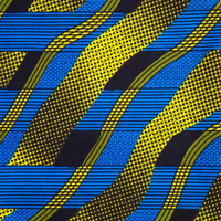 Blue and  yellow African print Fabric African fabric by the yard Wax print fabric African clothing Ankara fabric ethnic fabric cotton