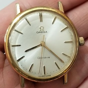Vintage 1967 Omega Geneve Mechanical Hand Winding Watch 17 Jewels CAL 601