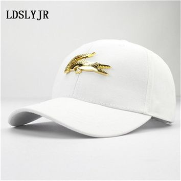Trendy Winter Jacket LDSLYJR 2017 cotton and leather Metal crocodile baseball cap snapback cap hip-hop hats for kids and adult 01 AT_92_12
