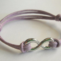 Purple Infinity Bracelet by MaesDesigns on Etsy