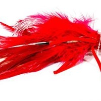 Boone Feather Trolling Double Hook Jig, Red/White, 6-Inch