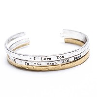 Brandy ♥ Melville |  I Love You to the Moon and Back Bangle