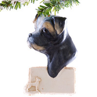 Boxer Personalized  Christmas ornament - black and tan boxer personalized ornament - dog ornament personalized free
