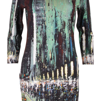 Urban Rhapsody Green & Black Tunic