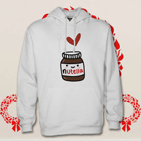 i love nuttella hoodie. pullover. sweatshirt. sweater. color black white green blue gray red for size s - 3xl