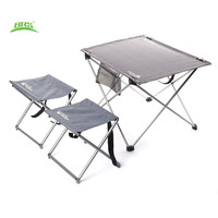 Oxford Fabric Portable Foldable Folding Table Desk Furniture Picnic Aluminium Alloy Outdoor Tables Stools Chairs For Camp Hiking