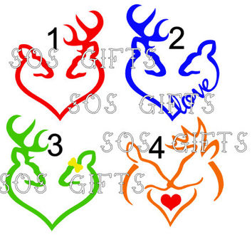 Deer Love Decal