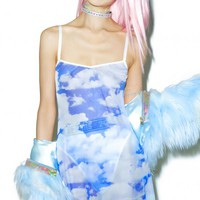 X DOLLS KILL CAUGHT IN DA CLOUDS DRESS