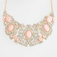 Junior Women's BP. Crystal Bib Necklace