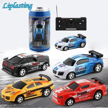 Creative Coke Can Mini Car RC Cars Collection Radio Controlled Cars Machines On The Remote Control Toys For Boys Kids Gift TSLM1