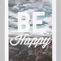 Zach Terrell Be Happy Art Print- Multi One Size- Multi One