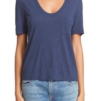 T by Alexander Wang 'Classic' Crop Pocket Tee   Nordstrom