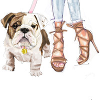 TribePrints | English Bulldog Canvas Gallery Wrap | Bethany Richard Collection